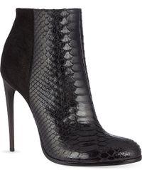 Haider Ackermann Lamington Snakeskin Stiletto Ankle Boots - For Women - Lyst
