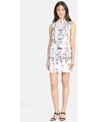 Ted Baker 'Crystal Droplets' Cape Dress - Lyst