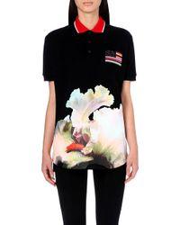 Givenchy Orchidprint Polo Shirt Black - Lyst