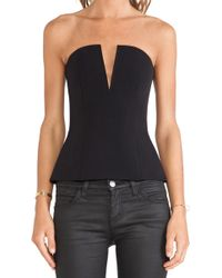 Nicholas Tech Stretch V Neck Bustier - Lyst