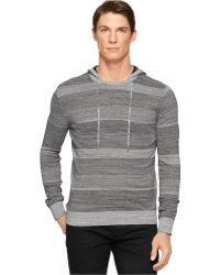 Calvin Klein Ck One Space-Dyed Stripe Slim-Fit Hoodie - Lyst