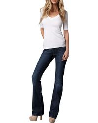 7 For All Mankind Boot-cut Ny Dark-wash Jeans - Lyst