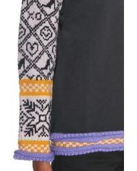 Michaela Buerger - Wool-knit Panelled Jersey Jumper - Lyst