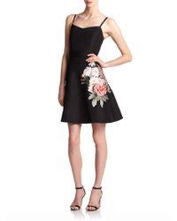Sachin & Babi Noir Embroidered Silk A-line Dress - Lyst