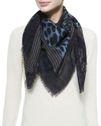 Givenchy Square Shaded Leopard Scarf - Lyst