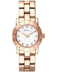 Marc Jacobs 'small Amy' Crystal Bracelet Watch - Pink