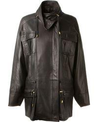 Balmain Black Lambskin Saharienne Jacket - Lyst