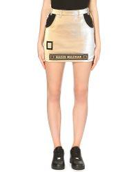 Nasir Mazhar Metallic Fitted Logo Mini Skirt - For Women - Lyst