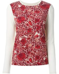 Tory Burch Flower Printed Long Sleeve T-shirt - Lyst