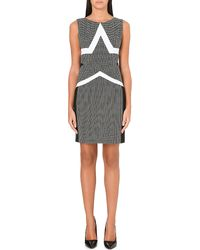 Diane Von Furstenberg Geometric Print Shift Dress Black-white - Lyst