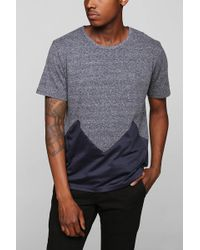 Vanishing Elephant Chevron Mesh Pieced Tee - Lyst