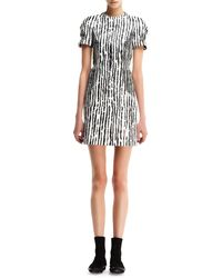Balenciaga Printed Wovendetail Leather Dress - Lyst