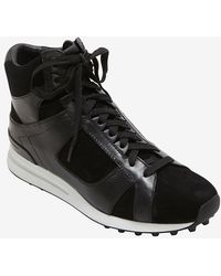 3.1 Phillip Lim - Trance Hi-top Leathersuede Sneaker Black - Lyst