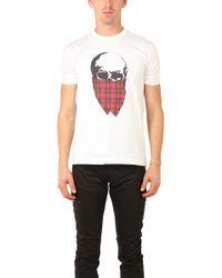 Markus Lupfer Tartan Skull T Shirt - Lyst