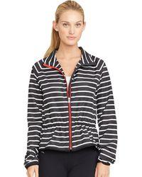 Ralph Lauren Striped Full-Zip Jacket - Lyst