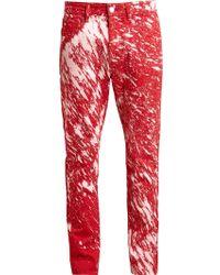 Raf Simons Sterling Ruby Paint Splatter Skinny Jeans - Lyst