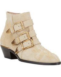 Chloé Studded Suzanna Ankle Boots - Lyst