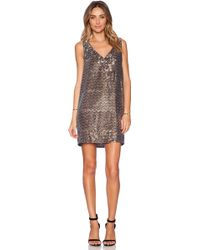Sam Edelman V-Neck Sequin Dress - Lyst