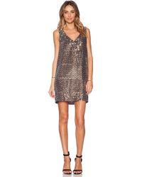 Sam Edelman V-neck Sequin Dress - Lyst