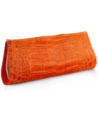 Anne Sisteron - Crocodile As Clutch - Orange - Lyst