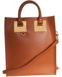 Sophie Hulme Mini Tote French Saddle Leather - Lyst