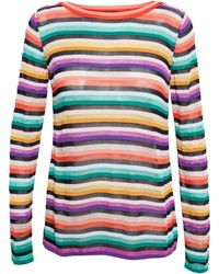 Missoni Striped Jumper - Lyst