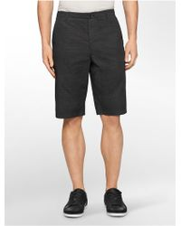Calvin Klein White Label Slim Fit Sifter Print Cotton Shorts - Lyst