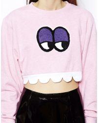 Lazy Oaf - Face Sweatshirt - Lyst