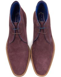 Ted Baker - Suede Derby Chukka Boots - Lyst