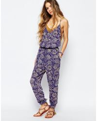 Billabong - Jumpsuit In Festival Paisley Floral Print - Blue Cruz - Lyst