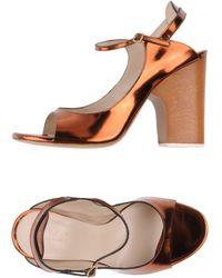 Chloé Orange Sandals - Lyst