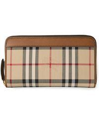 Burberry Haymarket Check Wallet - Lyst
