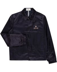 Paul Smith | Men's Navy Cotton-blend Embroidered Satin Coach Jacket | Lyst