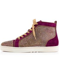 Christian Louboutin Louis Strass Mens Flat - Lyst