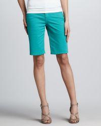 Christopher Blue - San Fran Slub Bermuda Shorts - Lyst