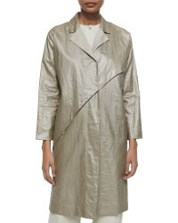 Burberry Vintage Gold Lambskin Worsham Coat In Gold Lyst