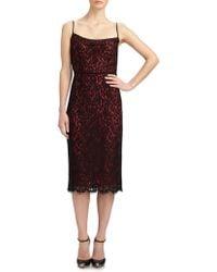 Michael Kors Lace Sheath Dress - Lyst