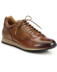 To Boot Sheridan Burnished Leather Sneakers - Lyst