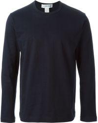 Comme Des Garçons Long Sleeved Basic T-Shirt - Lyst