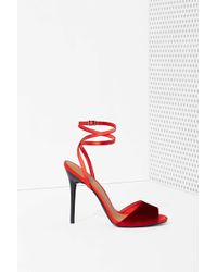 Nasty Gal Shoe Cult Lets Celebrate Velvet Heel - Lyst