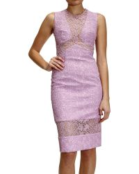 Ermanno Scervino Dress Sleeveless Lace - Lyst