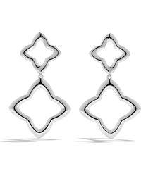 David Yurman Quatrefoil Double-Drop Earrings - Lyst