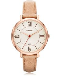 Fossil - Jacqueline Sand Leather Women's Watch - Lyst