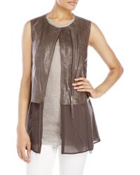 D'deMOO - Mixed Media Leather Vest - Lyst