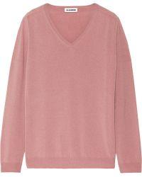 Jil Sander Pink Cashmere Sweater - Lyst