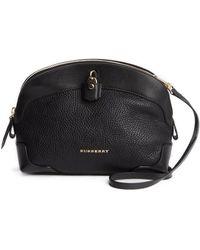 Burberry Black Leather Lock Detail Shoulder Bag - Lyst