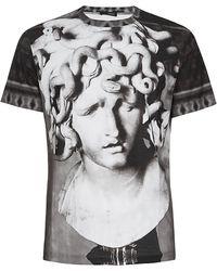 Versace Medusa Stone Face Tshirt - Lyst