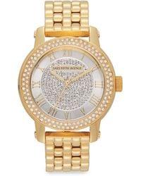 Saks Fifth Avenue Goldtone Stainless Steel Sparkle Bracelet Watch - Metallic