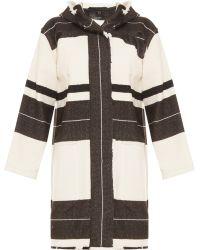 Isabel Marant Adil Stripe Blanket Coat - Lyst