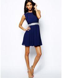 TFNC Skater Dress with Embellishments - Lyst